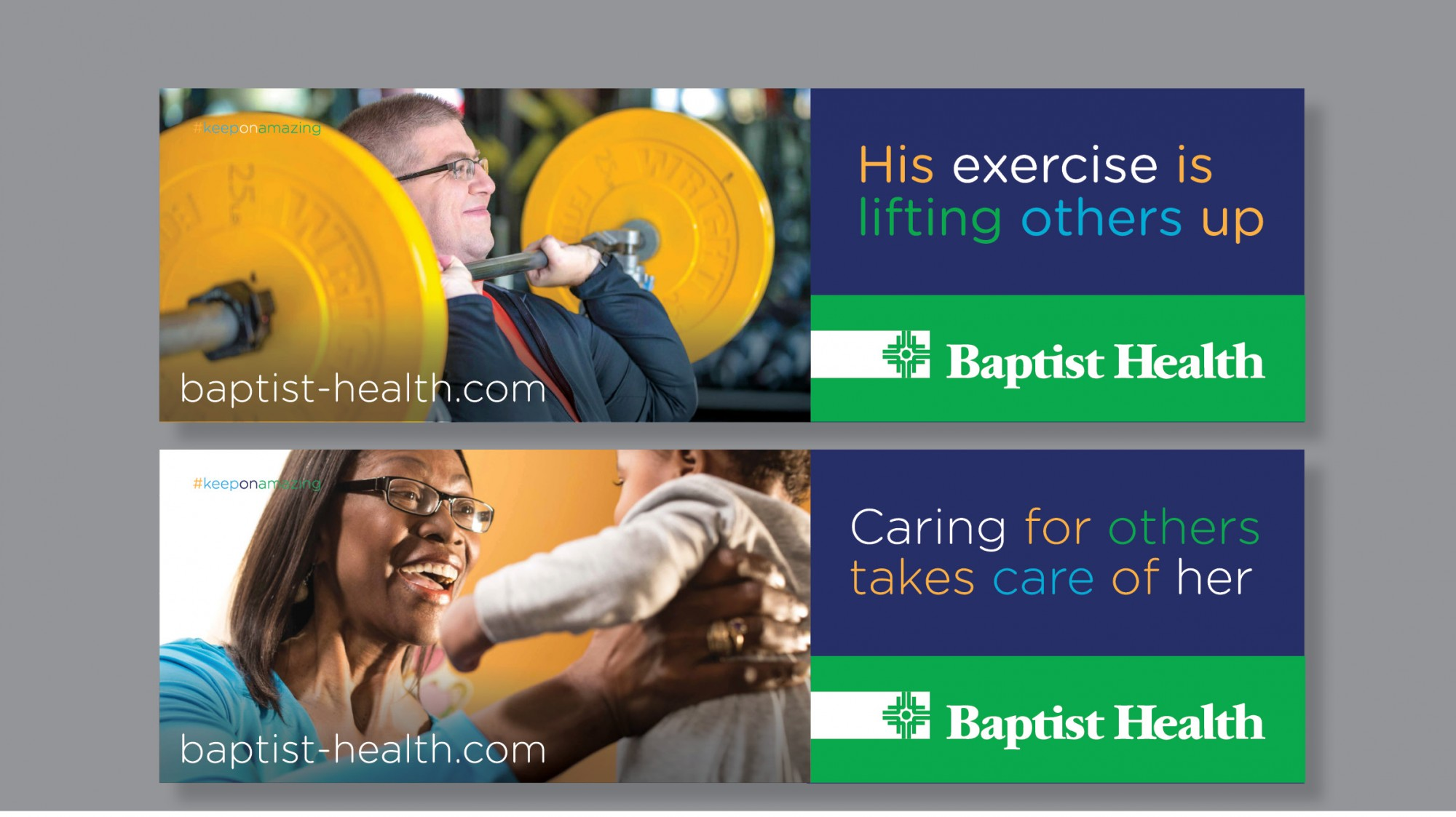 Baptist Health's Keep on Amazing Outdoor Campaign Designed by Stone Ward