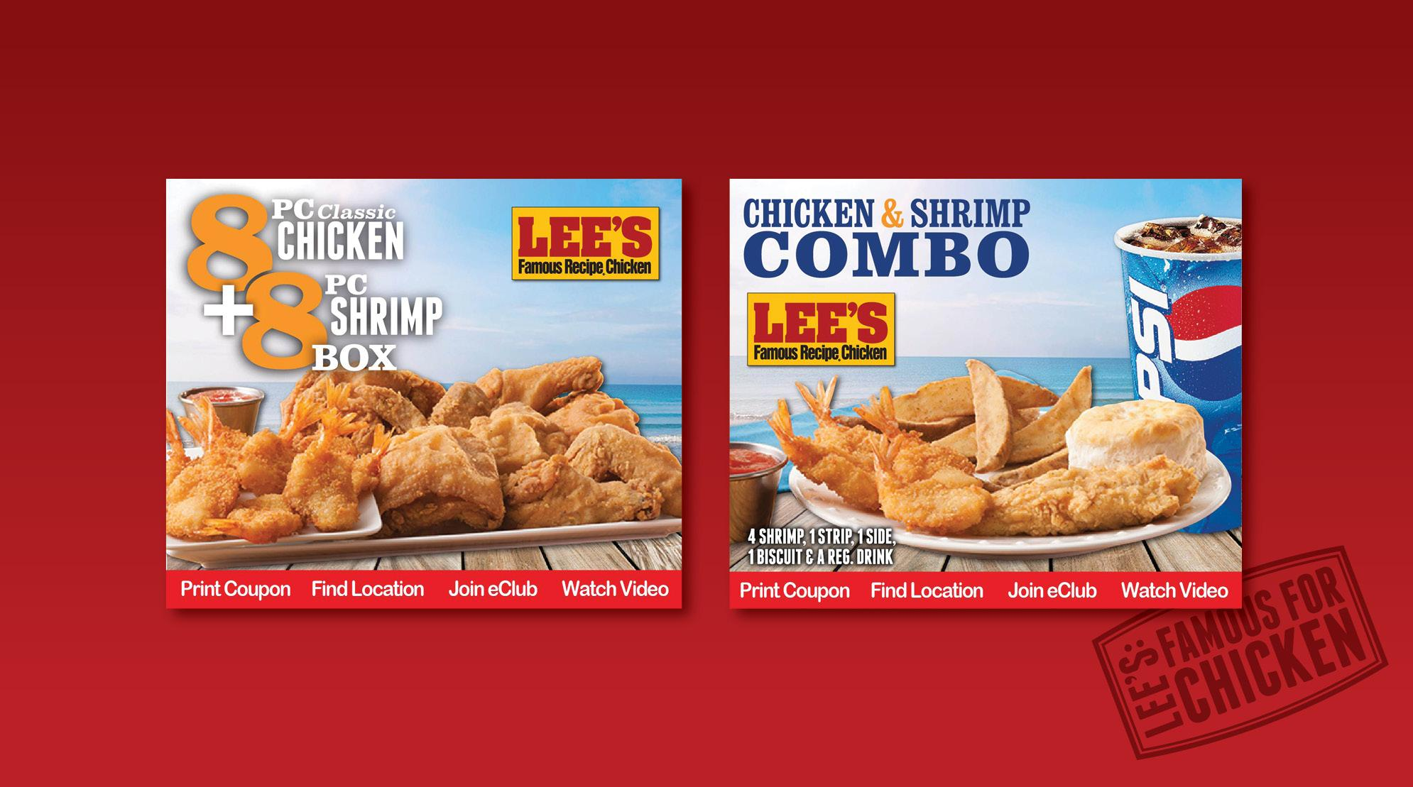 Lee's Famous Recipe Chicken Web Banners