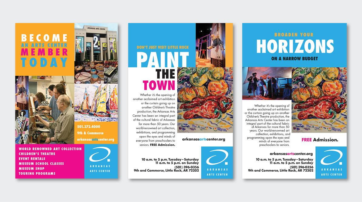 Arkansas Arts Center Print Campaign