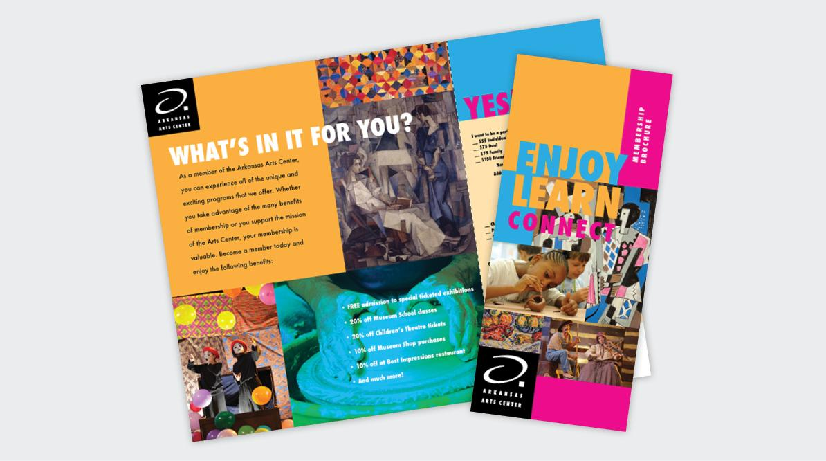 Arkansas Arts Center Membership Brochure
