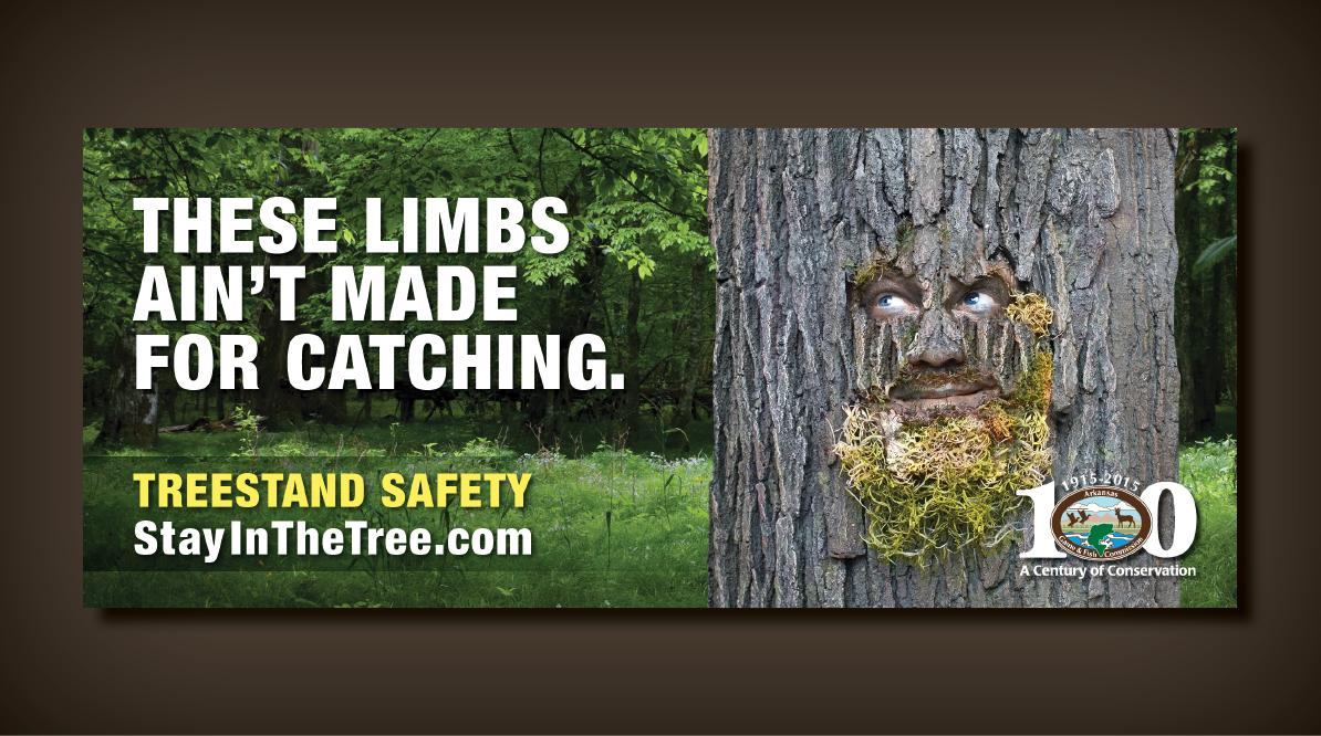 Tree Stand Safety Outdoor Campaign Poster