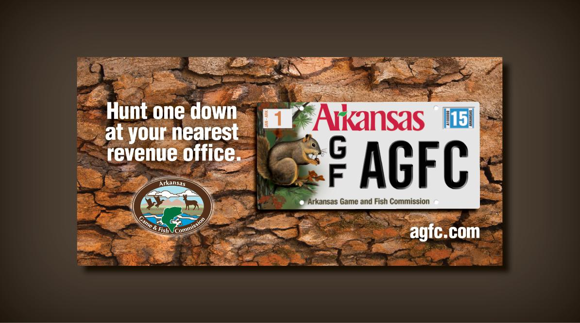 Arkansas Game and Fish Commission - License Plate Design