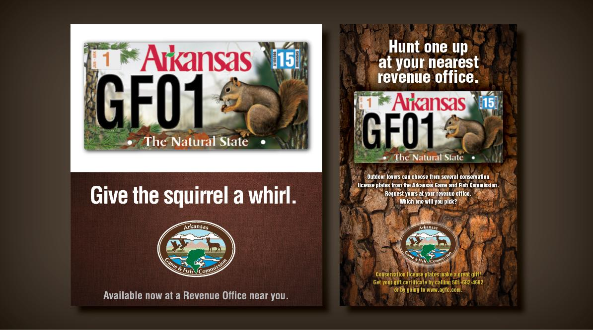 Arkansas Game and Fish Commission - License Plates Mulptiple Designs