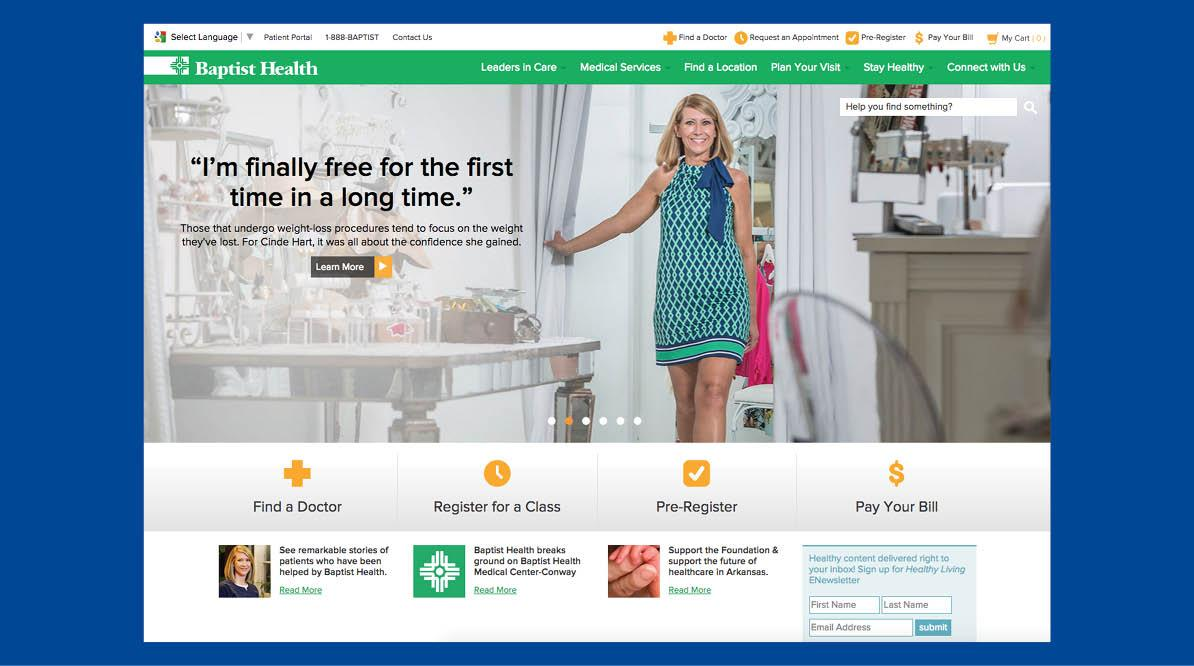 Baptist Health Website Page Screenshot #2