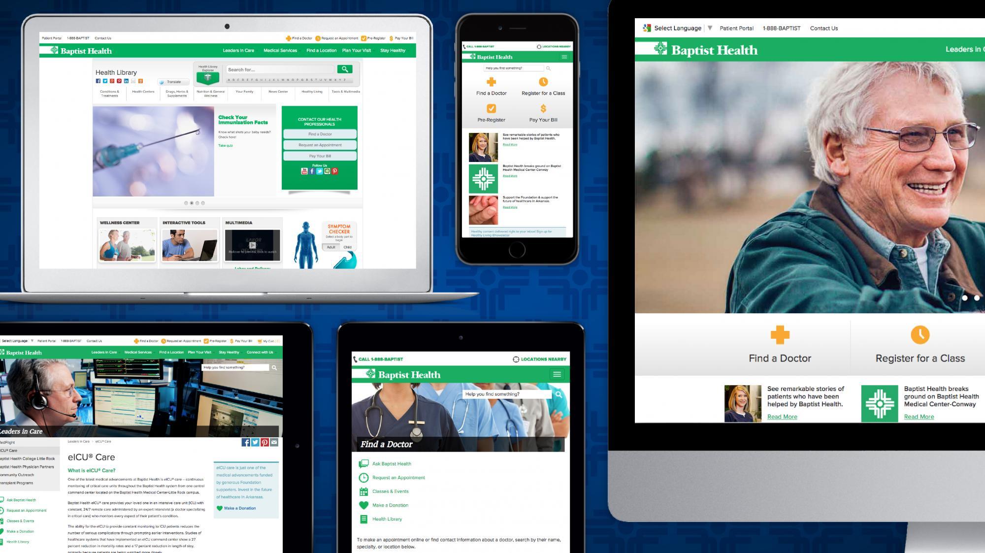 Baptist Health Website Pages Screenshots #1