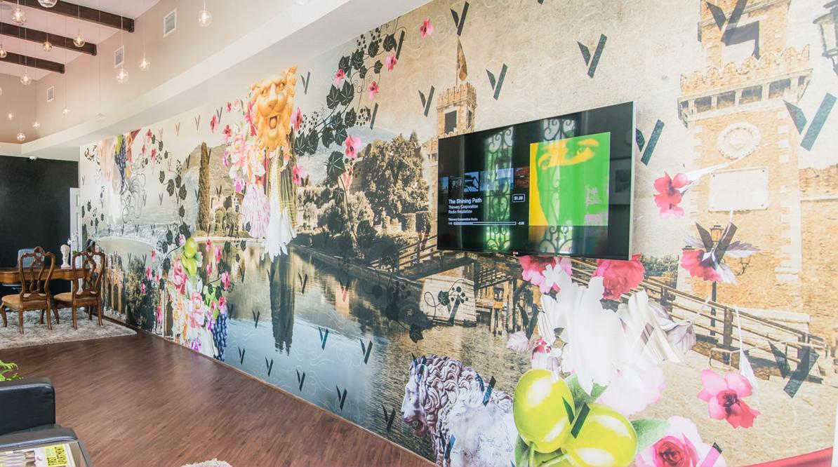 The Villa Lobby Mural