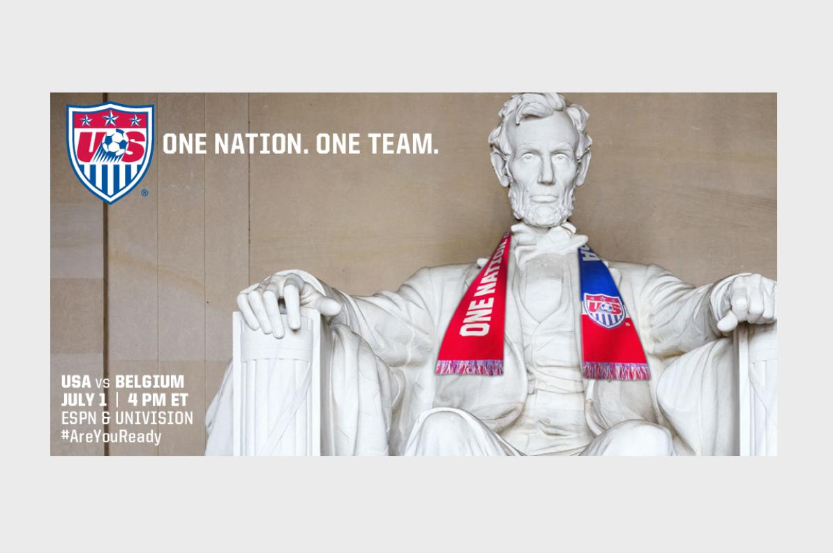 U.S. Soccer vs Belgium Social Media Visual Post