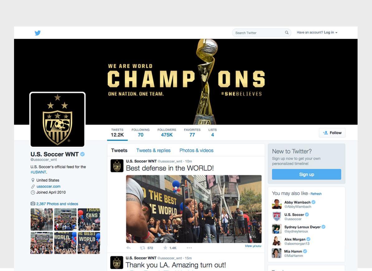 U.S. Soccer Social Media