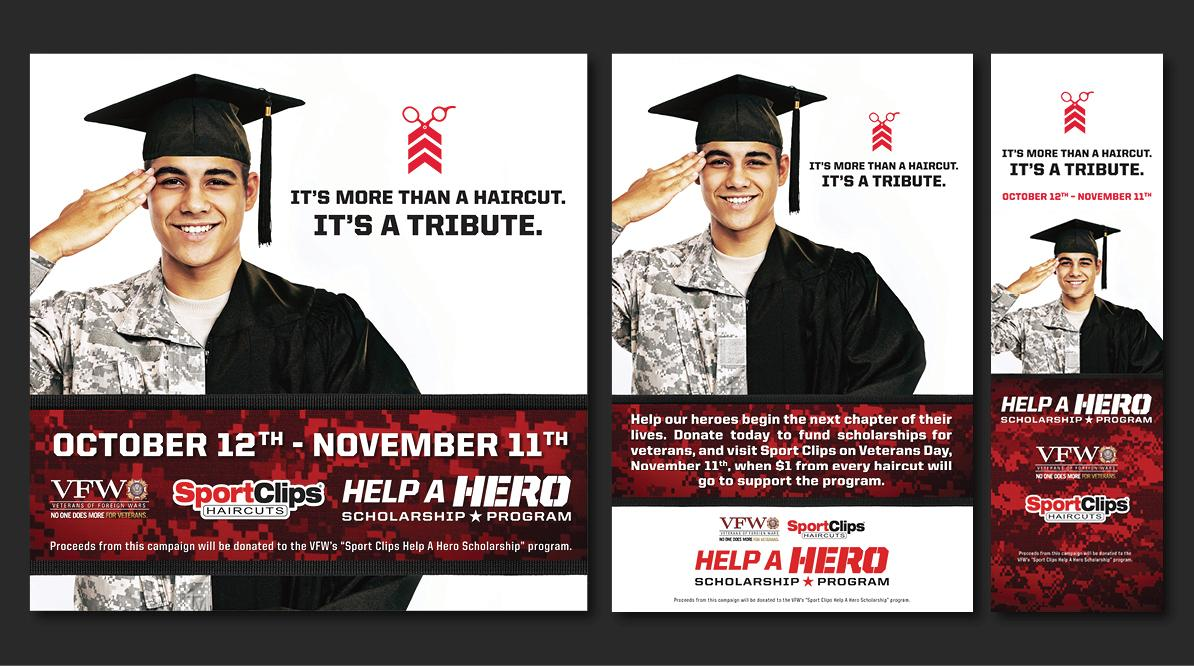 Sport Clips Help A Hero Campaign Ad Preview
