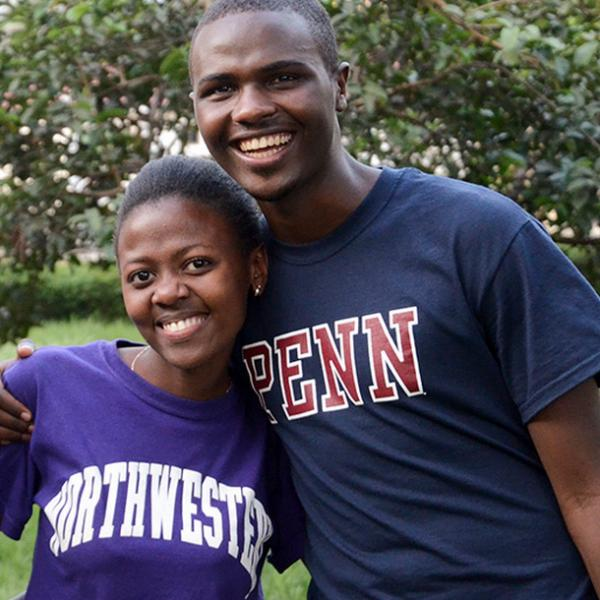 Two Bridge2Rwanda Students