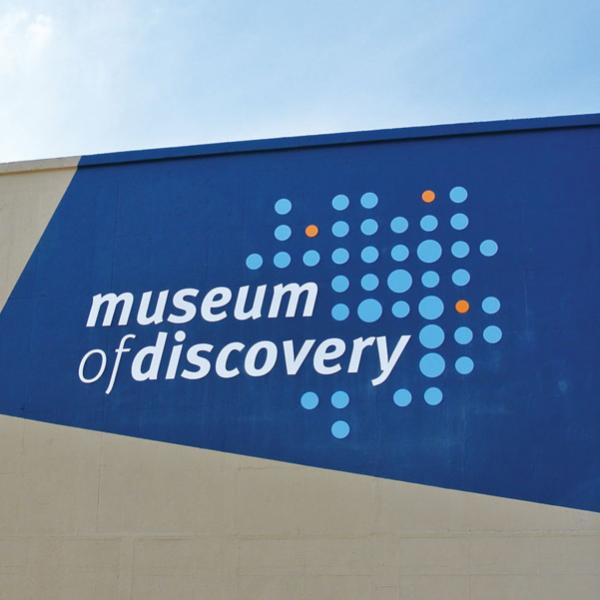 Museum of Discovery New Brand Logo
