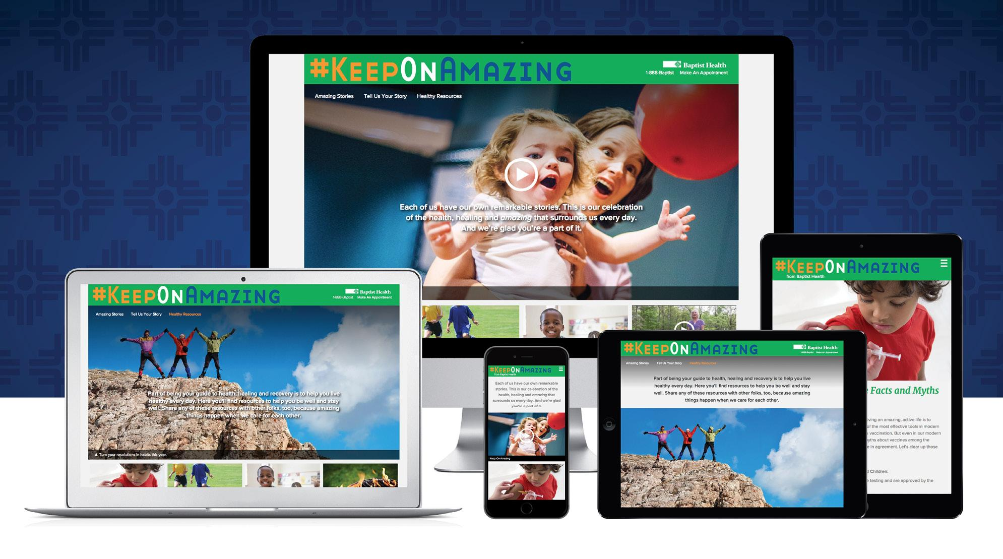 Keep On Amazing Dot Com Website Preview