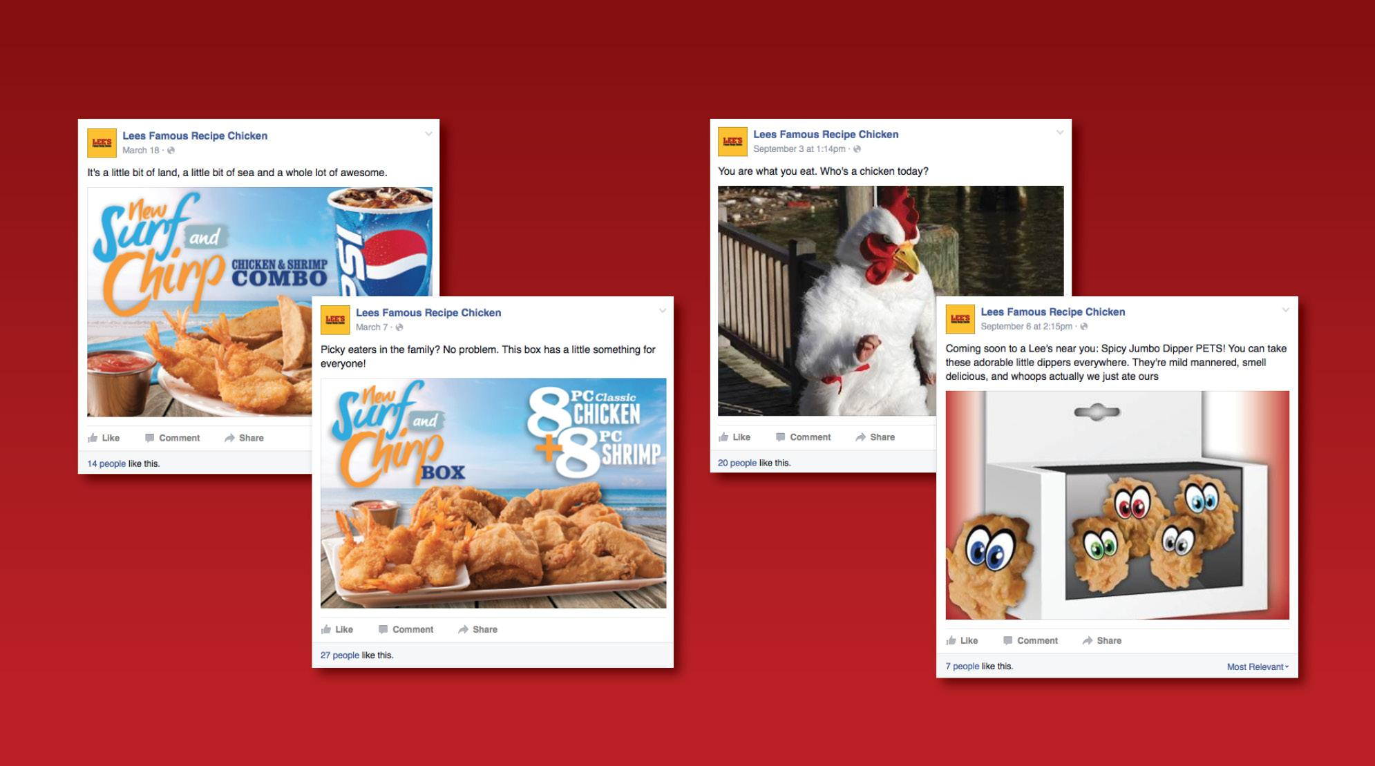 Lee's Famous Recipe Chicken Social Campaign