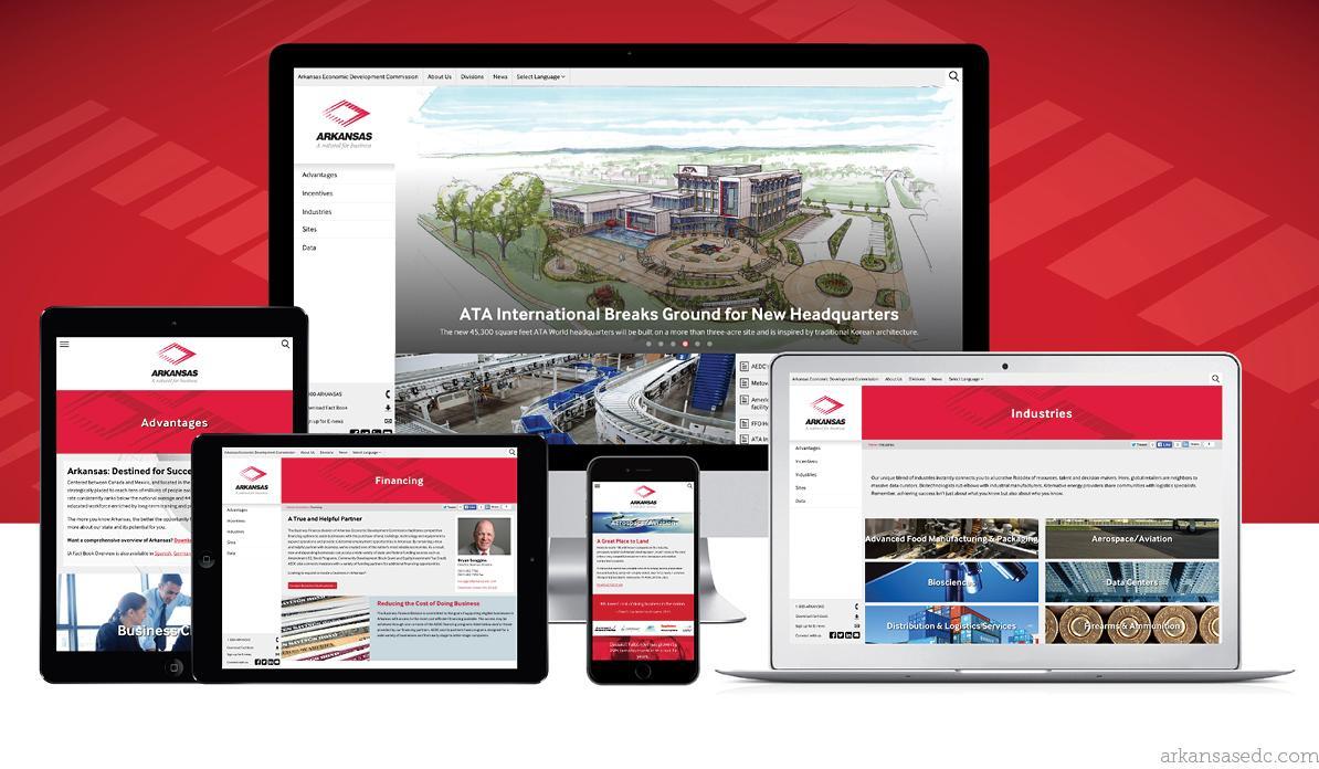 Arkansas Economic Development Commission Website Preview