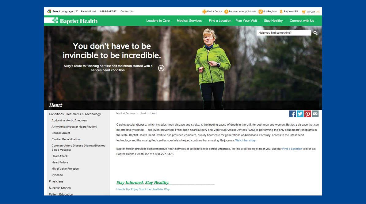 Baptist Health Website Pages Screenshots #4