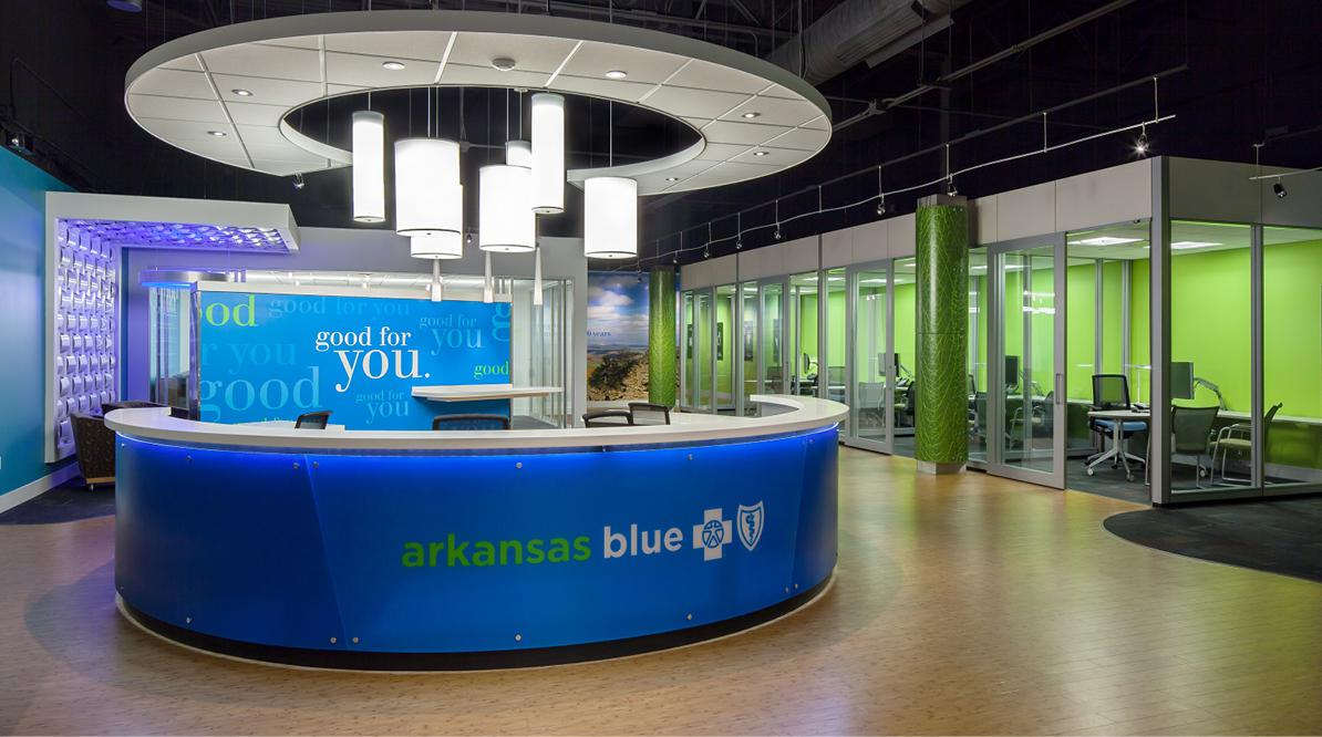 Inside of the Arkansas Blue Cross Retail Store