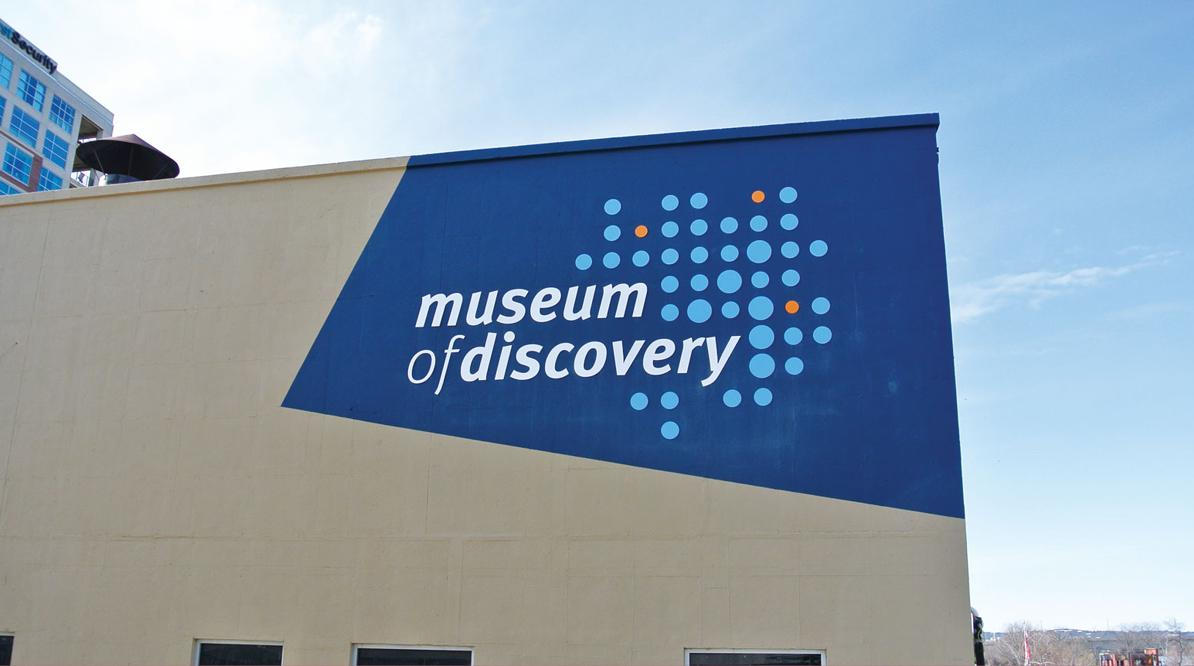 Museum of Discovery Building Signage