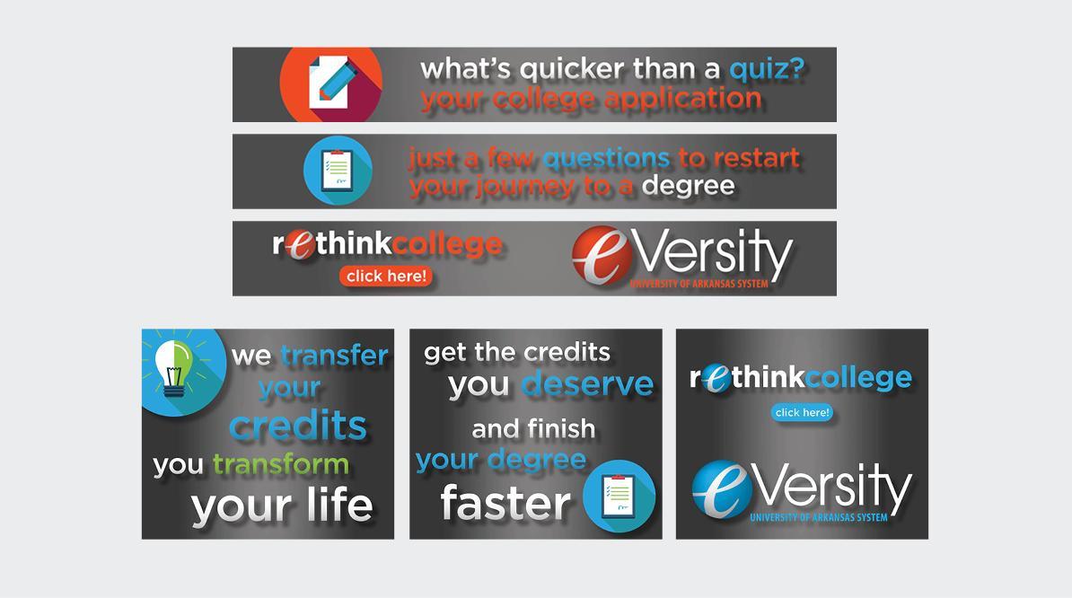 eVersity Web Banners