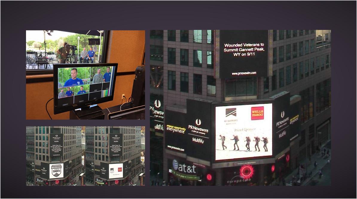 No Barriers Warriors2Summits PR Work - Outdoors Night Display