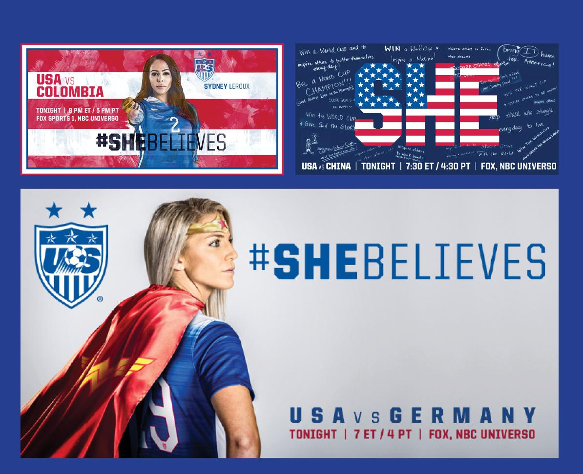 U.S. Soccer #SheBelieves campaign banner