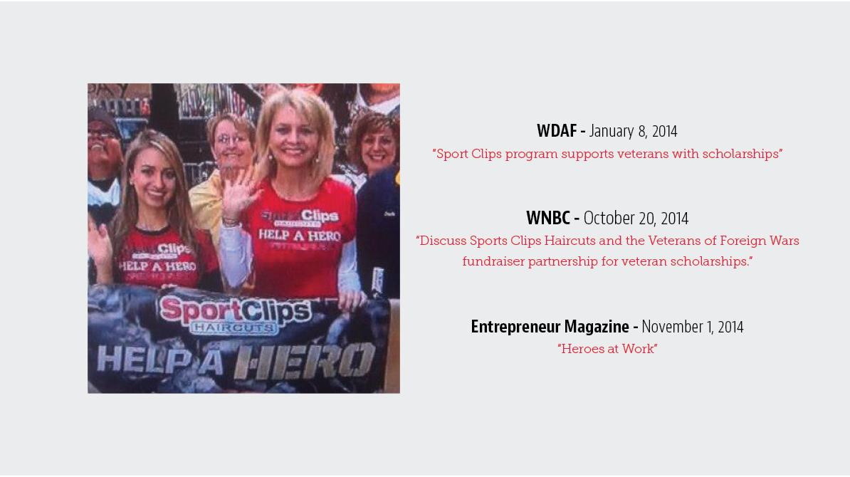 Sport Clips Help A Hero PR Highlights