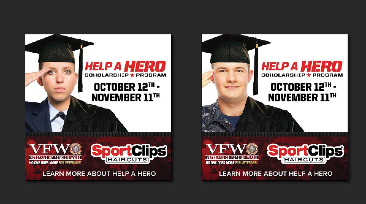 Sport Clips Help A Hero Social Media Banners