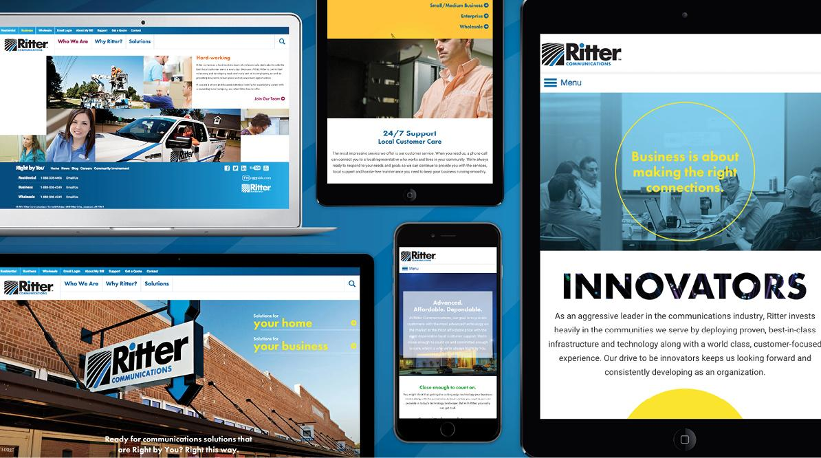 Ritter Communications Website Snapchots