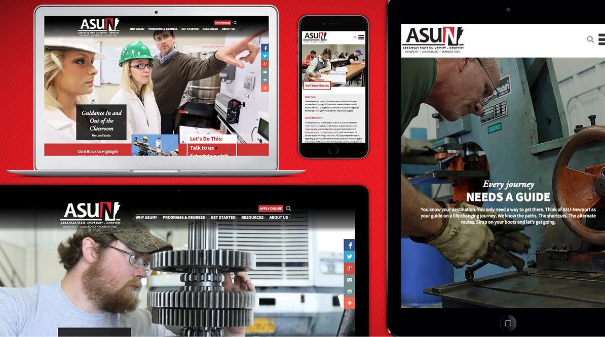 ASUN Website Screenshots