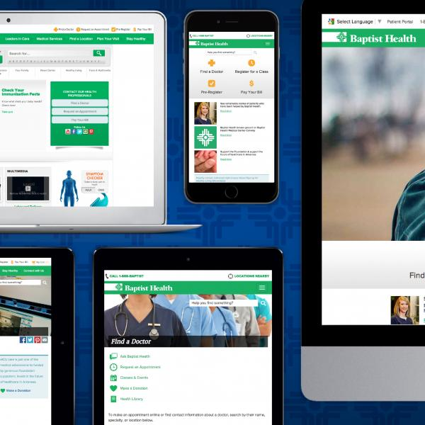 Baptist Health Website Redesign - Pages Snapshots