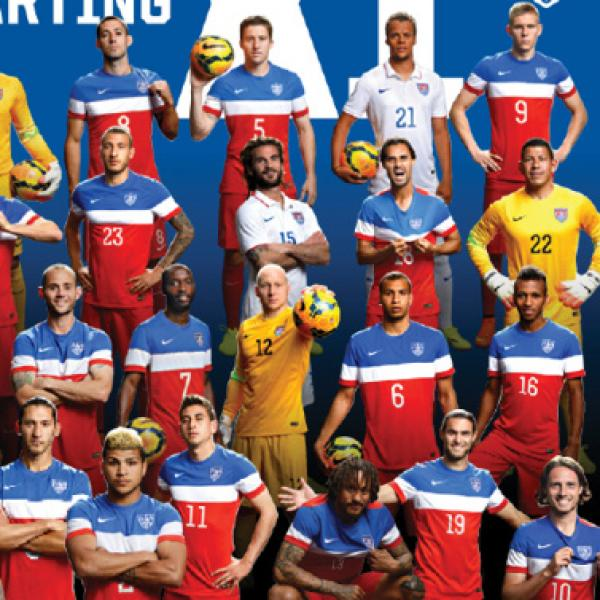 """One Nation. One Team."" - Men's U.S. Soccer Team"